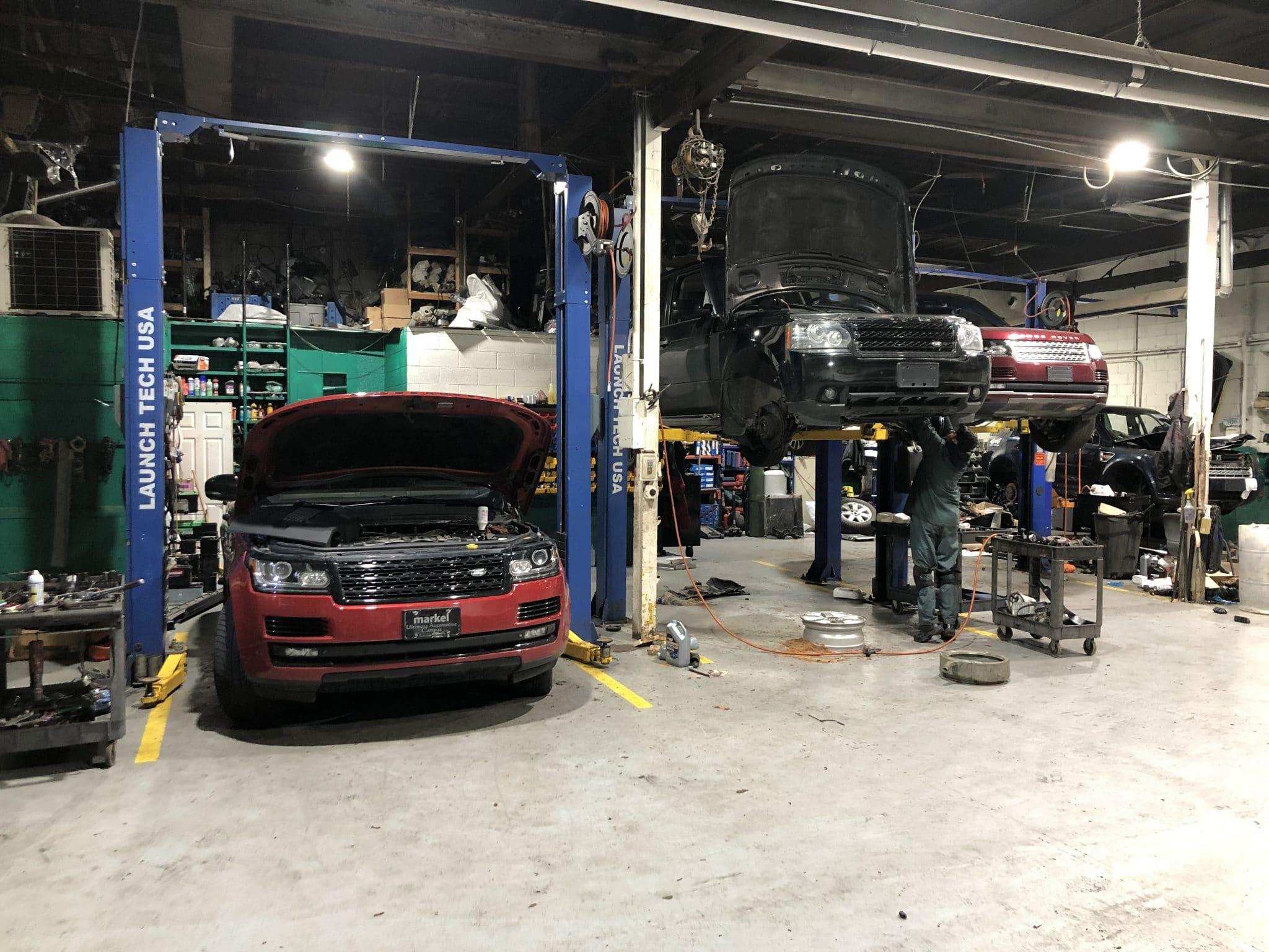 Roverland Repair Shop Inside